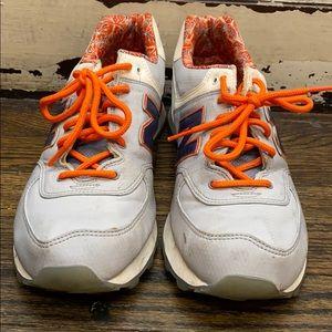 New Balance Gray/Orange Sneakers, Size 10
